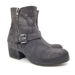 Carlos Santana Rolla Chunky Heel Moto Boots Sz 10